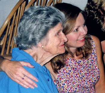 With my dear Nanny at a family reunion in 2004.