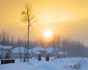 Winter sunset | Happy Simple Living blog