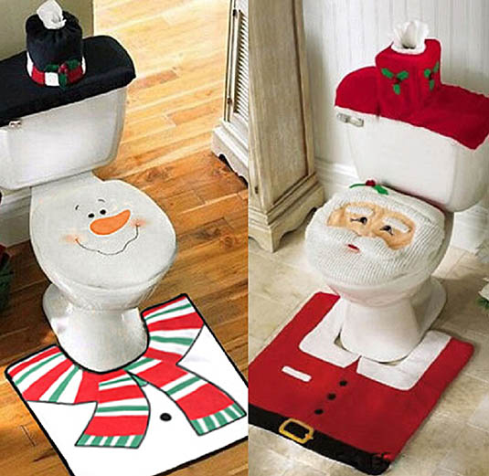 Christmas bathroom set