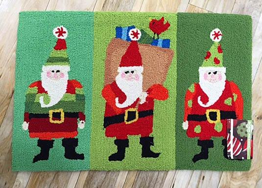 Santa throw rug