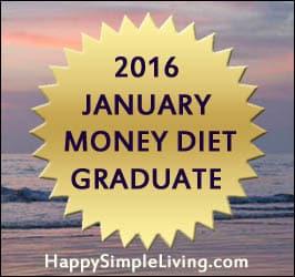 2016 January Money Diet Graduate