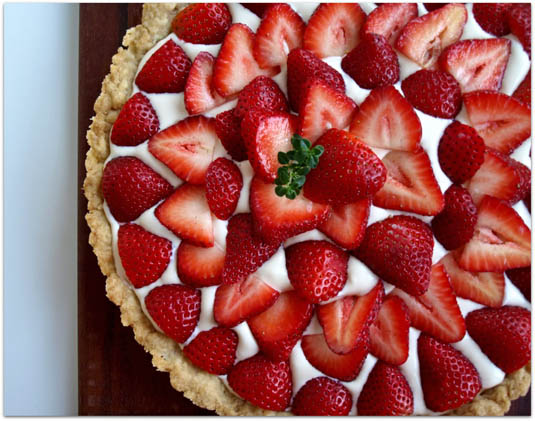 Strawberry tart | Happy Simple Living blog