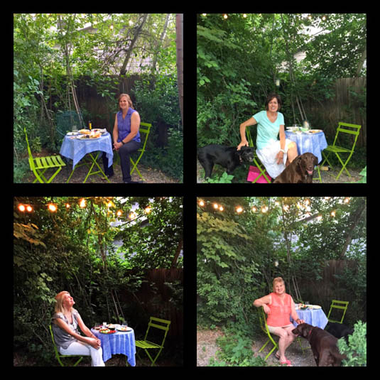 Friends visit our new garden   Happy Simple Living blog