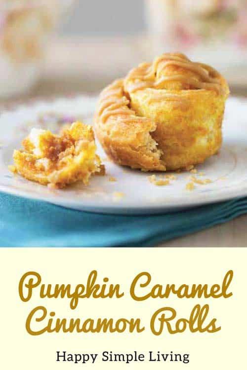 Pumpkin Caramel Cinnamon Rolls | #cinnamonrolls #pumpkinspice #pumpkin #baking #caramelrolls