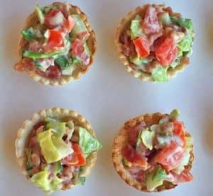 Mini BLT cup appetizers | Happy Simple Living blog