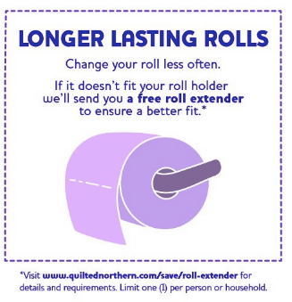 Quilted Northern roll extender