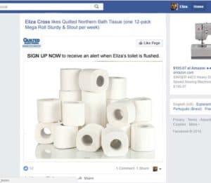 Parody Facebook toilet paper page