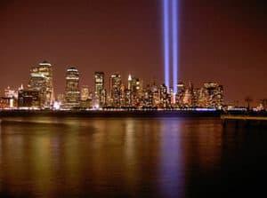 World Trade Center rays of hope