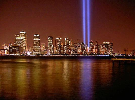 World Trade Center beams of hope