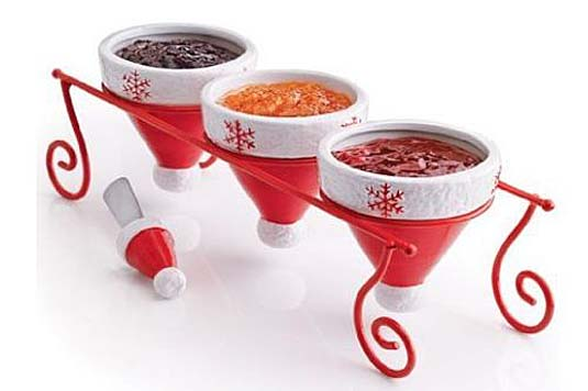 santa hat condiment set