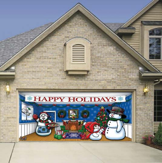 12 days of holiday stuff for 2016 happy simple living for Christmas garage door mural