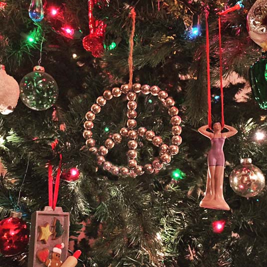 Peace sign Christmas ornament | Happy Simple Living blog