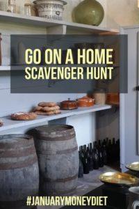 Home scavenger hunt   January Money Diet