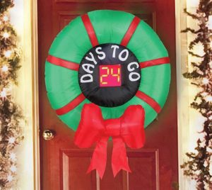 Inflatable holiday wreath