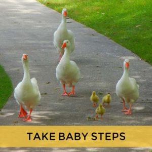 Take baby money steps