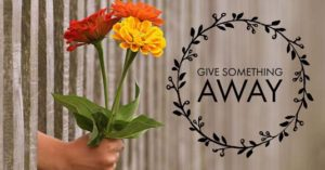 Give Something Away | January Money Diet
