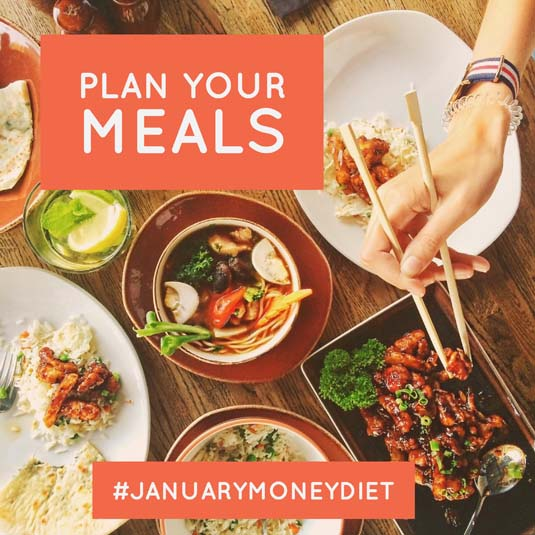 Plan Meals | January Money Diet