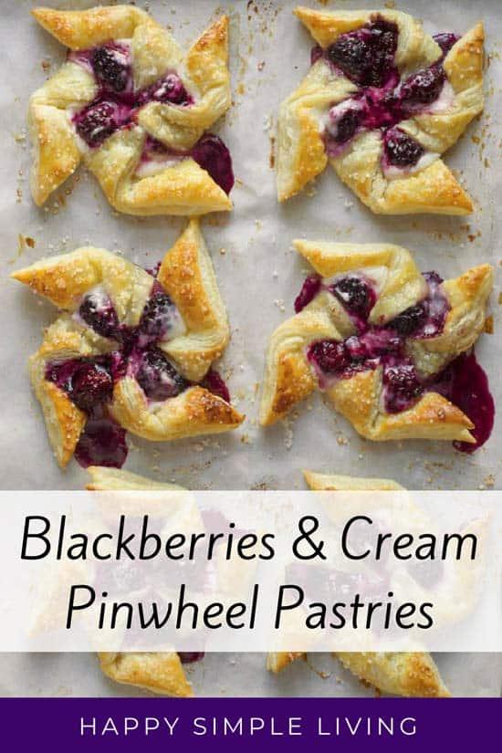 Blackberries & Cream #Pastries | #baking #blackberries #berries #pastry