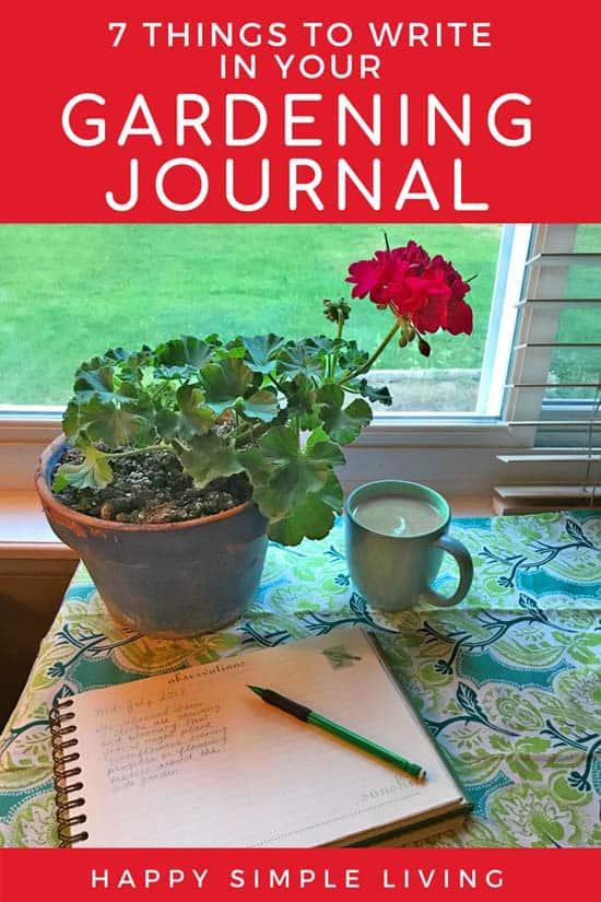Keep a gardening journal and grow a better garden   #gardening #journal #journaling #gardenjournal