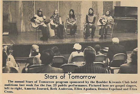Stars of Tomorrow Boulder 1970