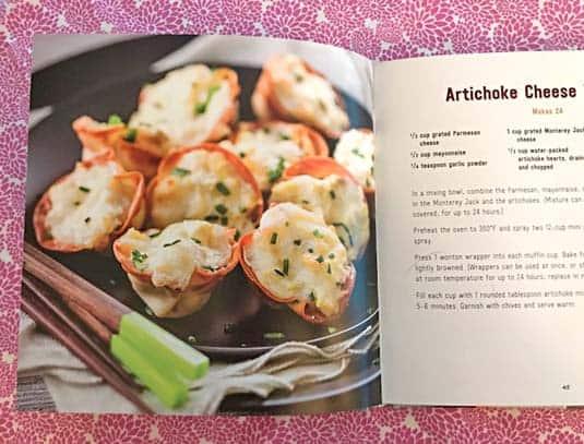 Artichoke Cheese Wontons