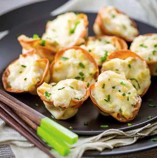 artichoke wontons appetizer