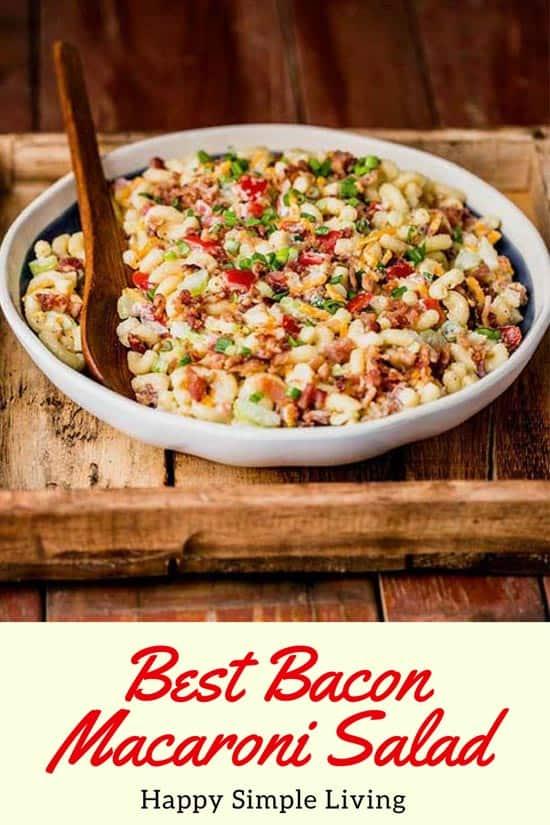 Bacon Macaroni Salad Recipe | #bacon #baconrecipes #macaronisalad #salad