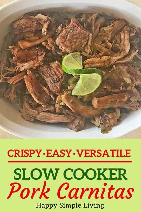 Slow Cooker Carnitas | #crockpotcarnitas #slowcookercarnitas #crockpotrecipes #slowcookerrecipes #carnitas