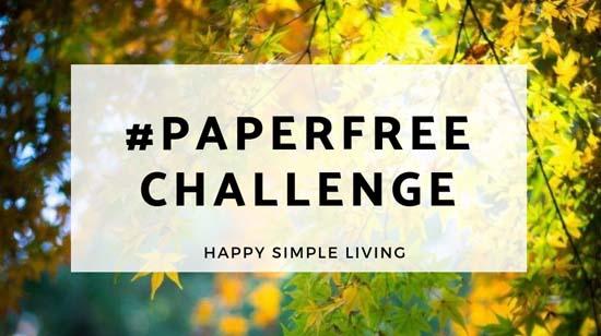 PaperFree Challenge | #organizing #decluttering #organized #homeorganization