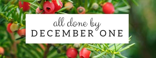 All Done by December One | #simpleChristmas #simpleholidays #simplifyChristmas #simplerChristmas