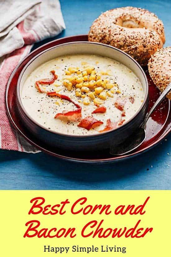 Corn Bacon Jack Chowder   #souprecipes #easyrecipes #dinnerrecipes #comfortfood #bacon #baconrecipes