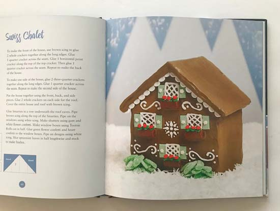 Swiss chalet gingerbread house