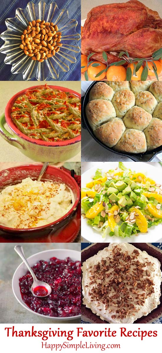 Family favorite Thanksgiving recipes from Happy Simple Living