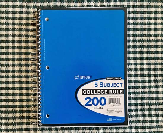 A spiral notebook to record your thoughts